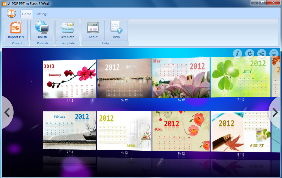 build interactive 3d wall flash slideshow from ms powerpoint, Powerpoint templates