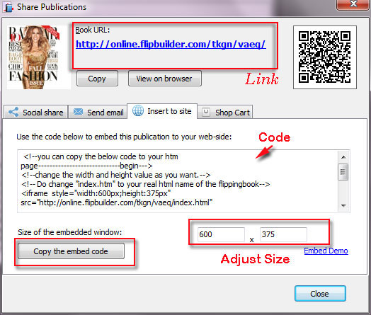 Free upload Flipbook to online server