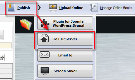 How to upload flipbook to my FTP