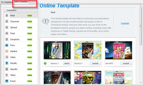 How to use free online template