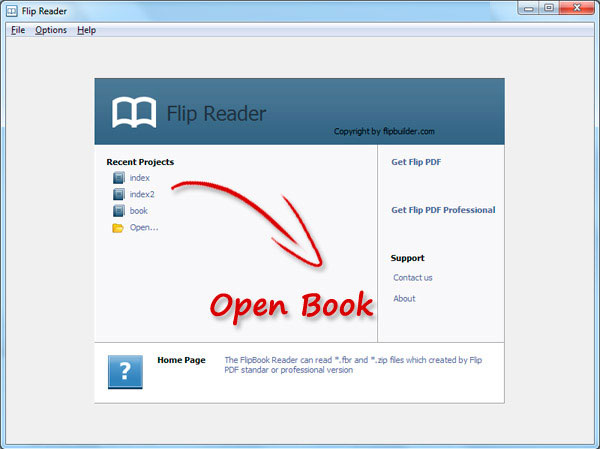 How to read FBR format flip ebook