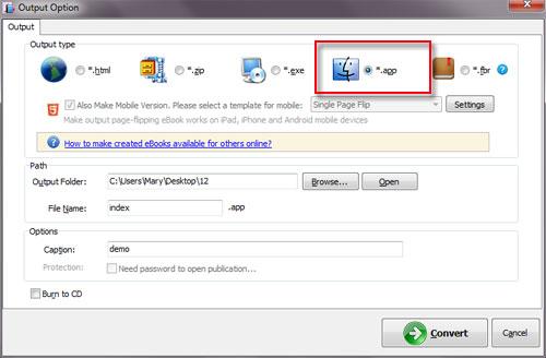 PDF to App Flipbook for Mac