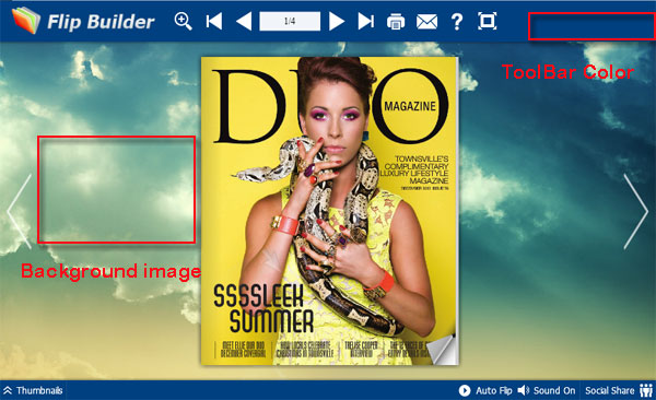 Design the background of Jquery flipbook with images