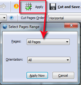 How to cut one PDF page to multiple pages by using A-PDF Page Cut2
