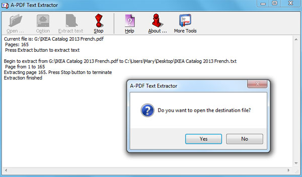 How to extract text from specific pages in PDF file? [A-PDF com]
