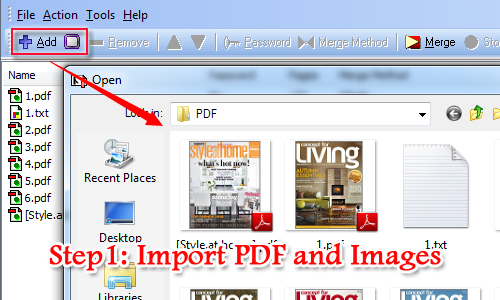 How to merge multiple images into one pdf