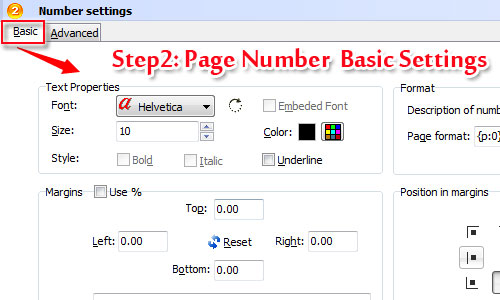 how to put page number in pdf file