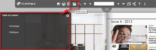 How to create bookmark for Page Flip Digital eBook