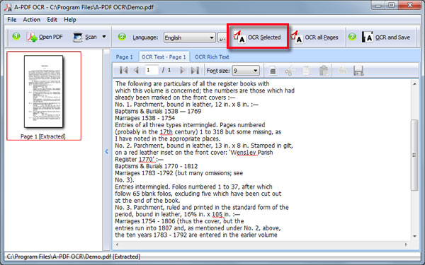 How to convert Extract Text from uneditable scanned PDF and images