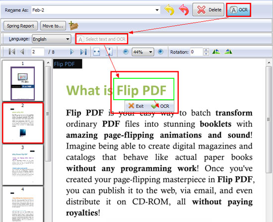 a-pdf preview and move rename by OCR text
