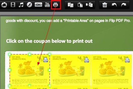 How to add print area on flip pages by Indesign to Flipbook Converter