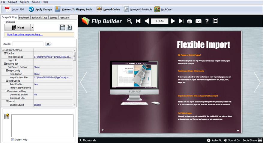 A-PDF FlippingBook Maker full screenshot