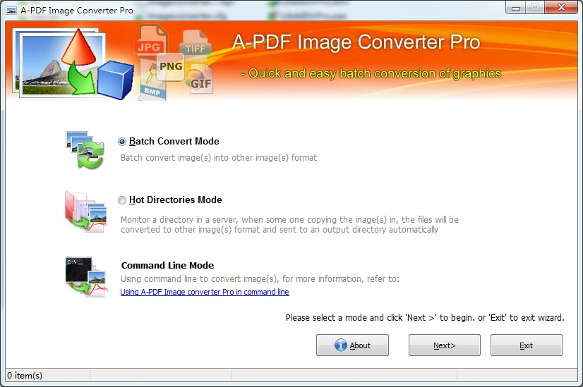 A powerful graphic file conversion to convert image