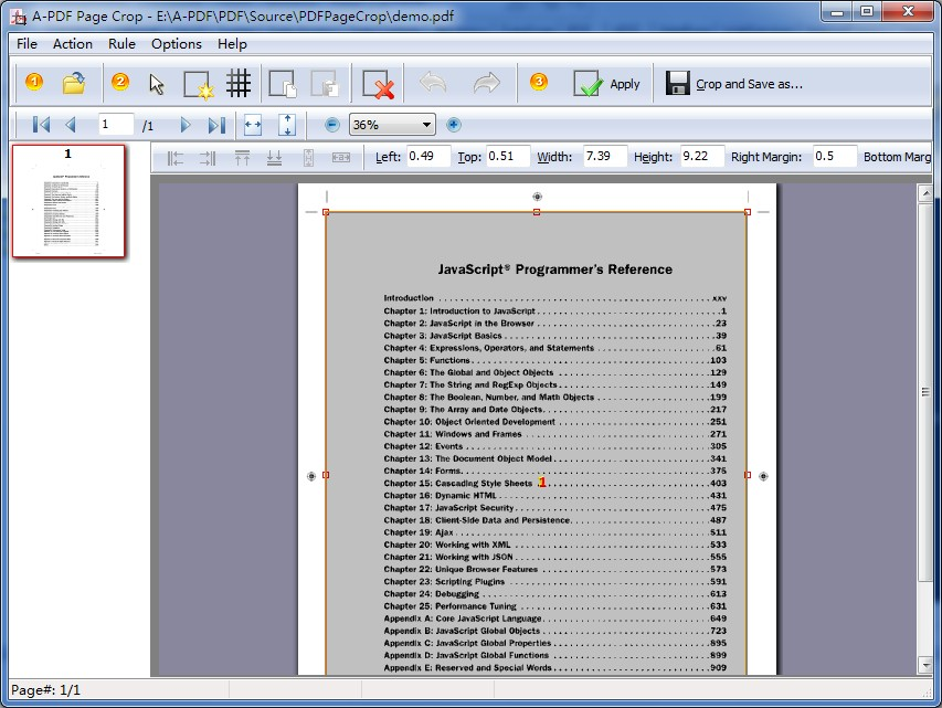 Click to view A-PDF Page Crop 6.4 screenshot