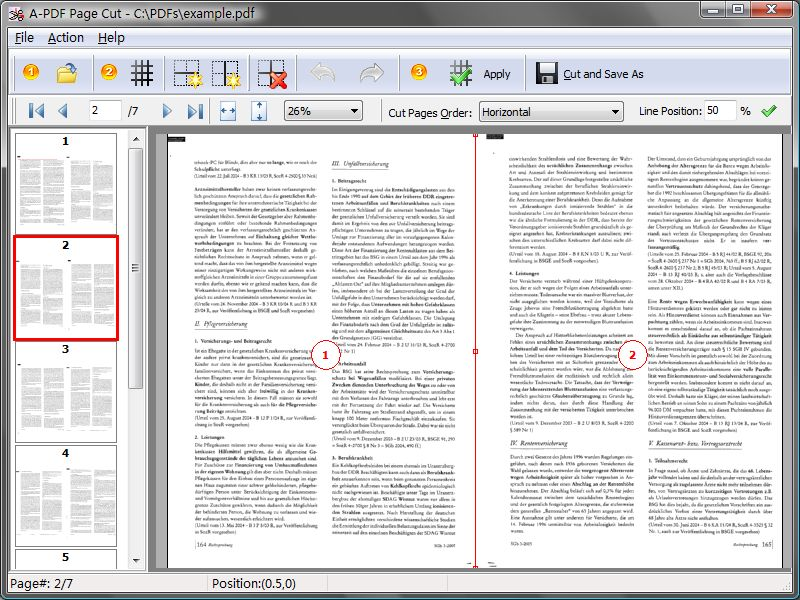 A-PDF Page Cut Screen shot