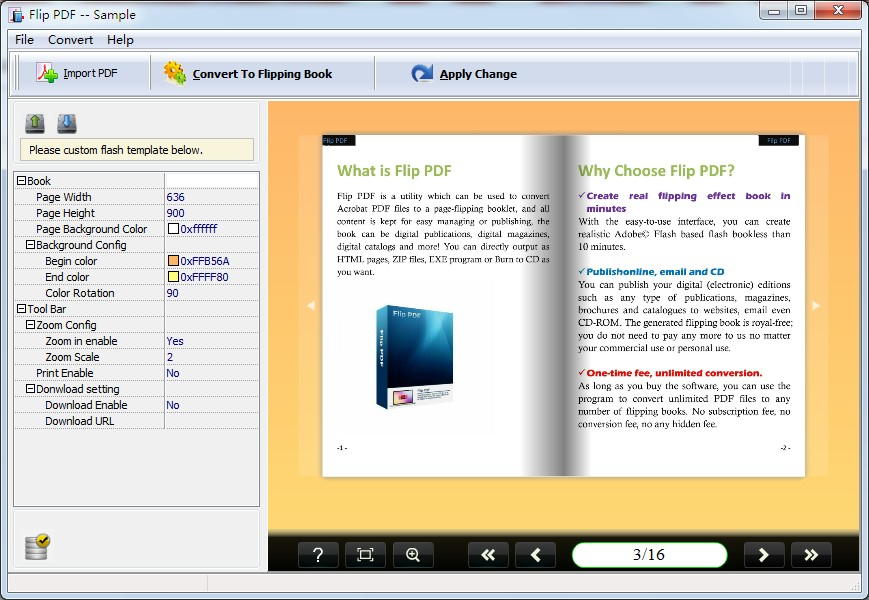A-PDF Page Turner (Flip PDF) screenshots
