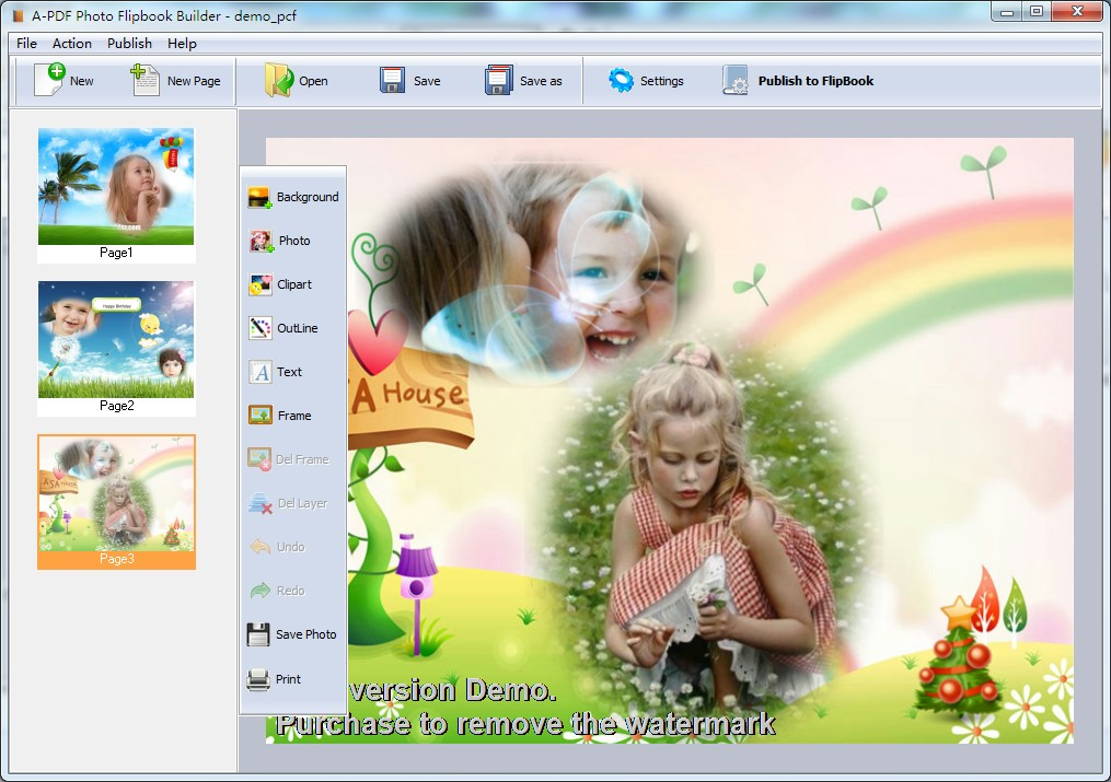 A-PDF Photo Flipbook Builder screenshot