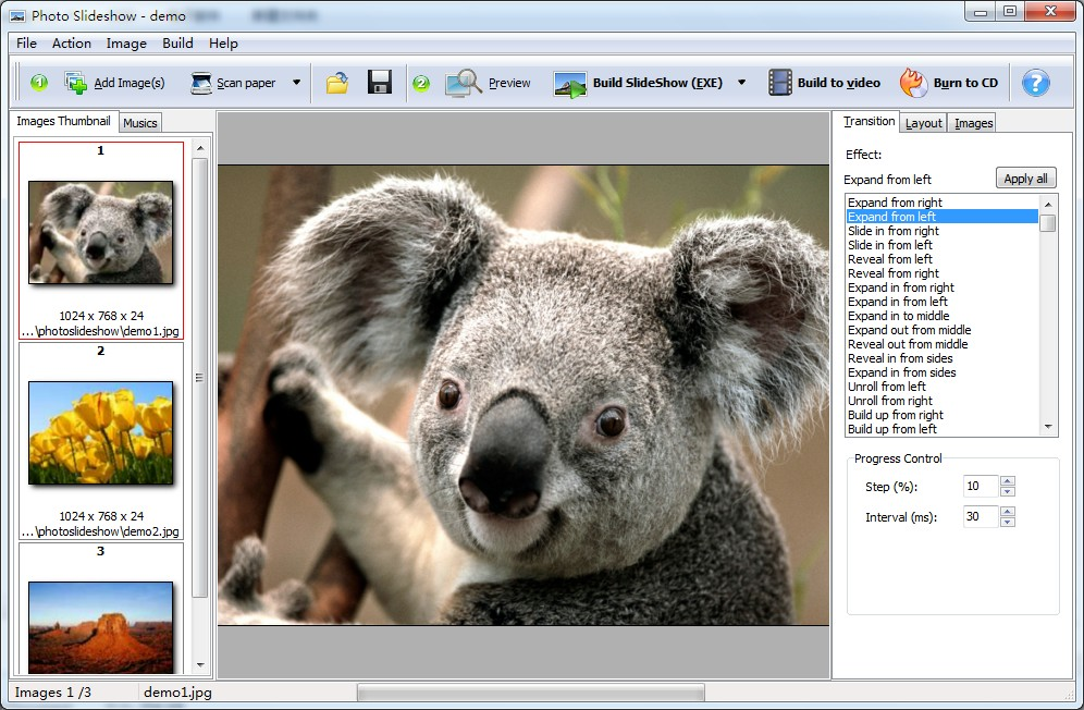 Photo SlideShow Builder full screenshot