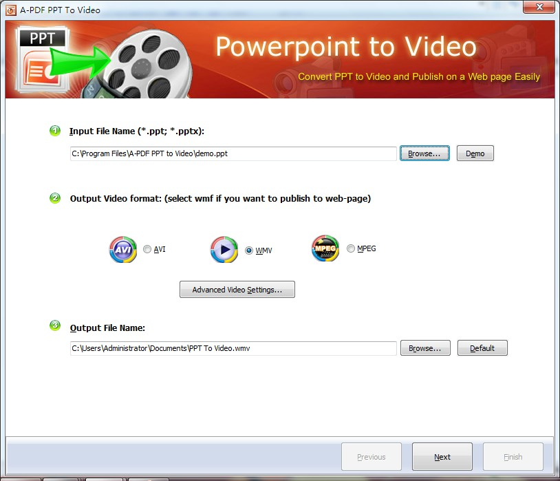A-PDF PPT to Video screenshot