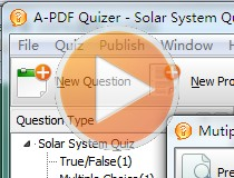 A-PDF Quizzer - Create highly customized flash based quiz software