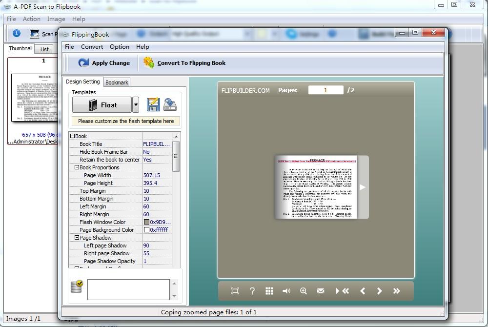 A-PDF Scan to Flipbook screenshot