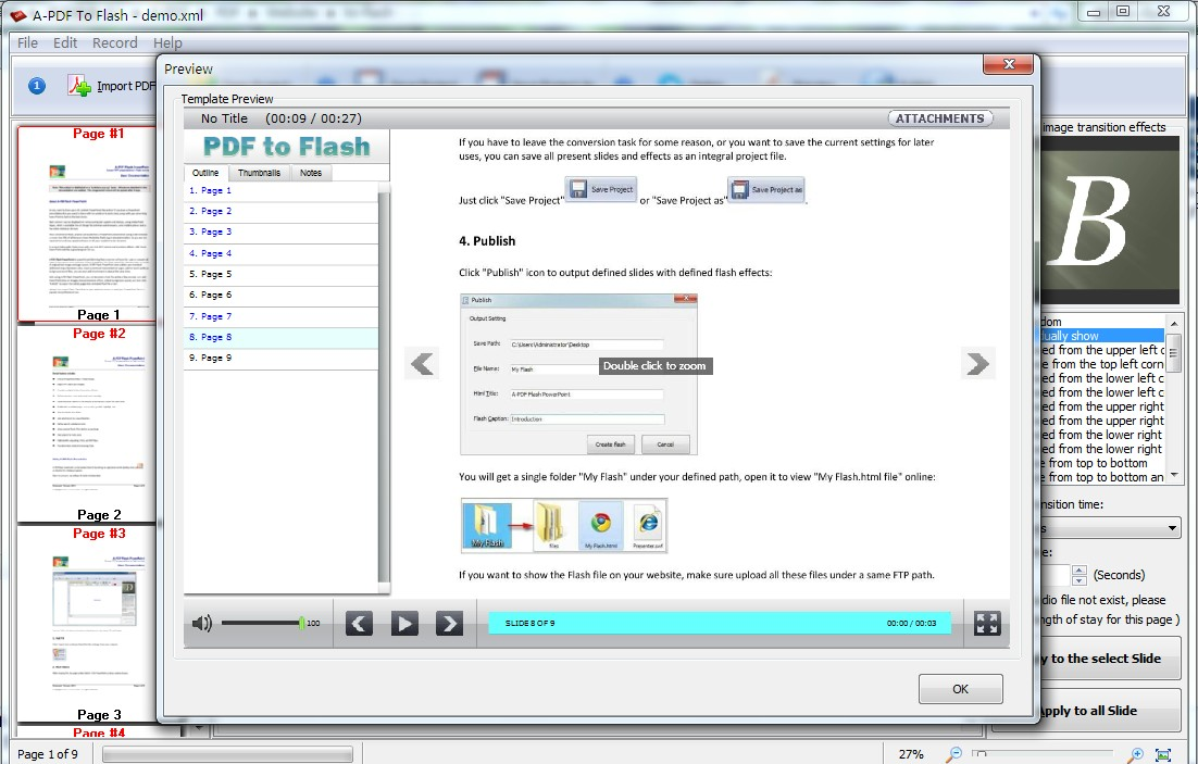 A-PDF to Flash Screenshot