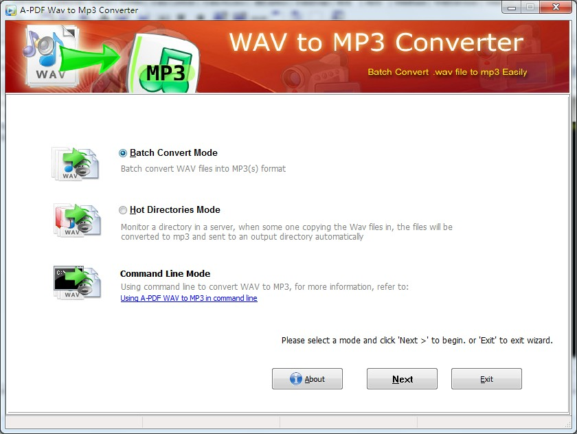 Click to view A-PDF WAV to MP3 Converter screenshots